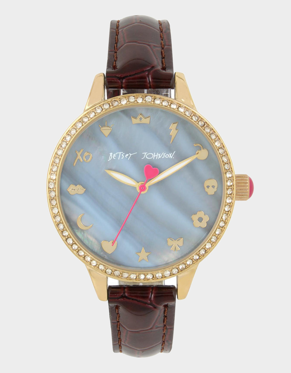 BETSEYS EMOJIS BROWN WATCH BROWN - JEWELRY - Betsey Johnson