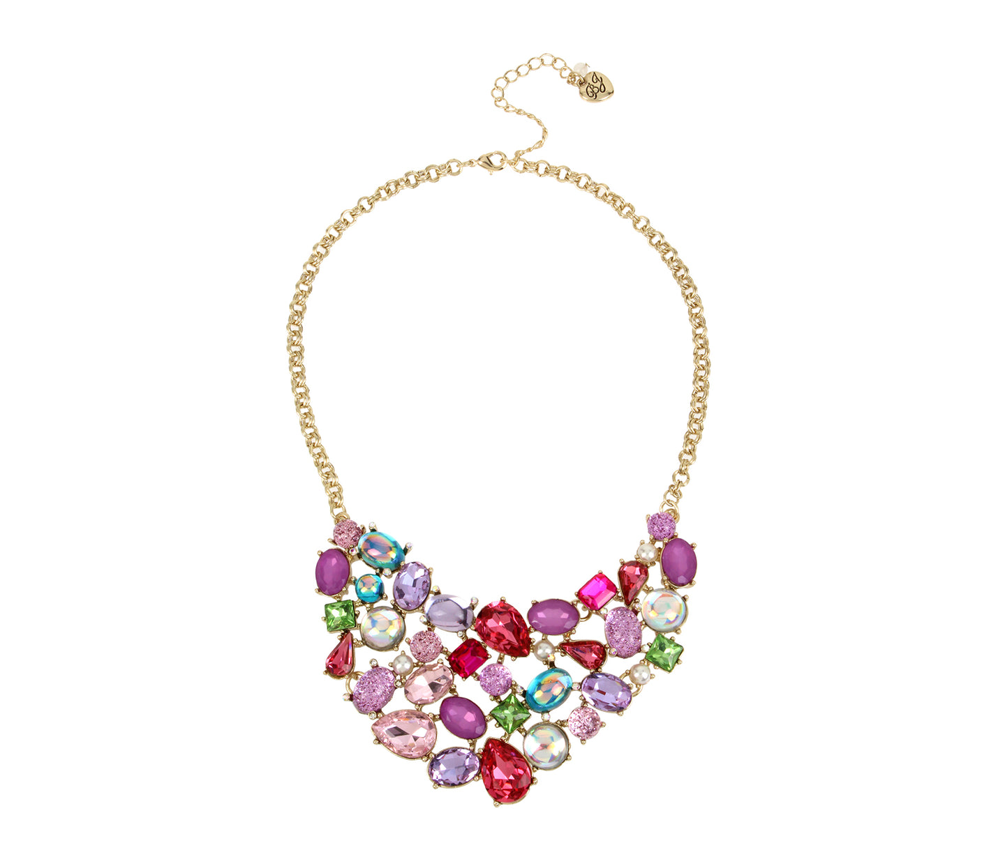 BETSEYS FUNFETTI BIB NECKLACE MULTI - JEWELRY - Betsey Johnson