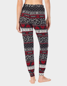 BETSEYS HOLIDAY PARTY JOGGER BLACK MULTI