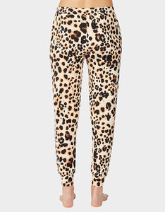 BETSEYS HOLIDAY PARTY JOGGER LEOPARD