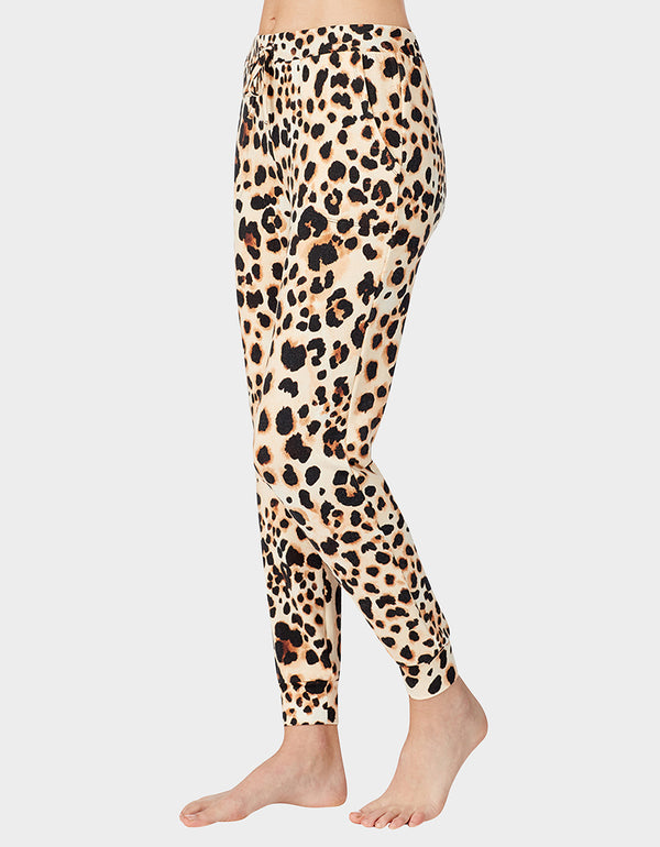 BETSEYS HOLIDAY PARTY JOGGER LEOPARD - APPAREL - Betsey Johnson