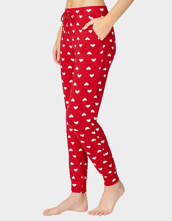 BETSEYS HOLIDAY PARTY JOGGER RED - APPAREL - Betsey Johnson