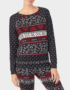 BETSEYS HOLIDAY PARTY PULLOVER BLACK MULTI