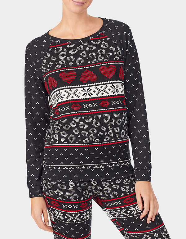 BETSEYS HOLIDAY PARTY PULLOVER BLACK MULTI - APPAREL - Betsey Johnson
