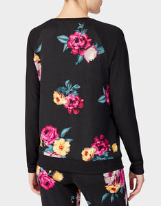 BETSEYS HOLIDAY PARTY PULLOVER FLORAL