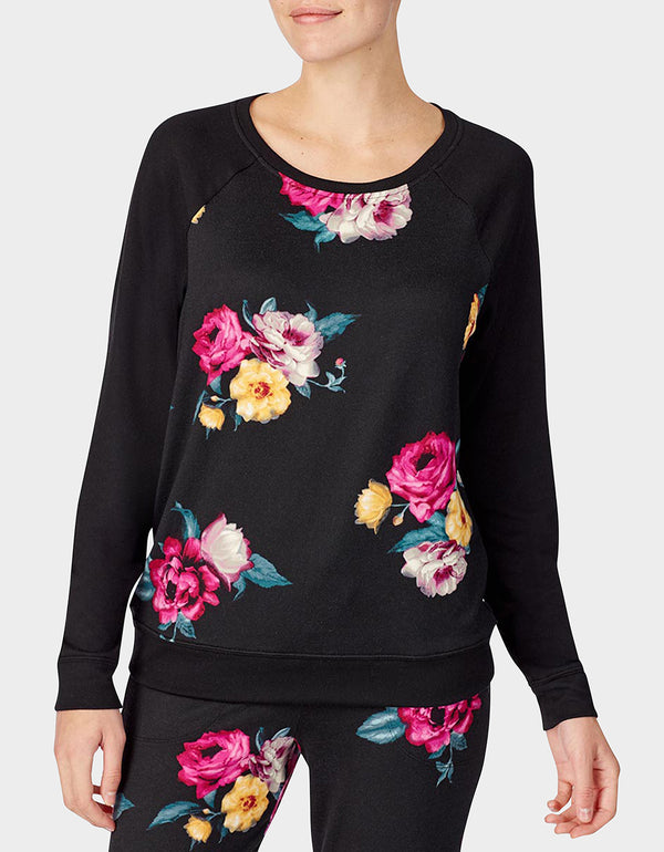 BETSEYS HOLIDAY PARTY PULLOVER FLORAL - APPAREL - Betsey Johnson