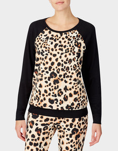 BETSEYS HOLIDAY PARTY PULLOVER LEOPARD