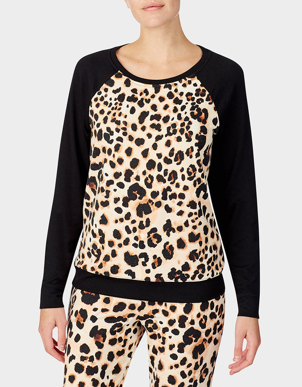 BETSEYS HOLIDAY PARTY PULLOVER LEOPARD - APPAREL - Betsey Johnson