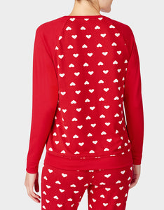 BETSEYS HOLIDAY PARTY PULLOVER RED