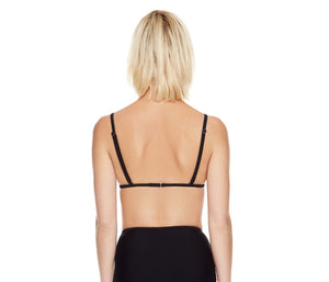 BETSEYS MALIBU SOLIDS TRIANGLE TOP BLACK
