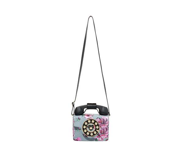 BETSEYS MINI PHONE BAG DENIM FABRIC - HANDBAGS - Betsey Johnson
