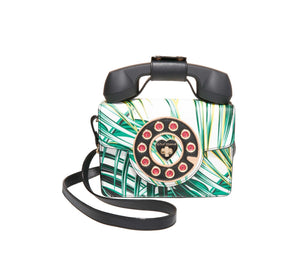BETSEYS MINI PHONE BAG WHITE-GREEN