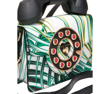 BETSEYS MINI PHONE BAG WHITE-GREEN - HANDBAGS - Betsey Johnson