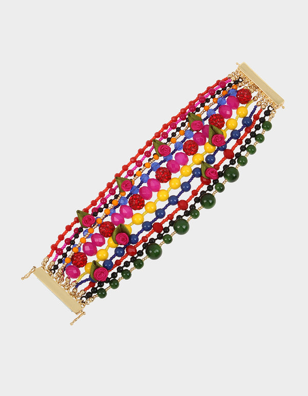 BETSEYVILLA DRAMA BEAD BRACELET MULTI - JEWELRY - Betsey Johnson