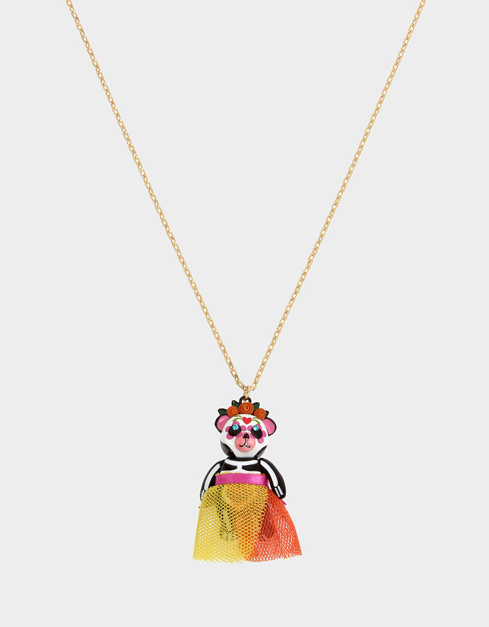 BETSEYVILLA SKELETON BEAR PENDANT MULTI - JEWELRY - Betsey Johnson