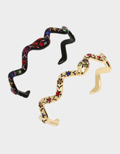 BETSEYVILLA SNAKE CUFF SET MULTI - JEWELRY - Betsey Johnson