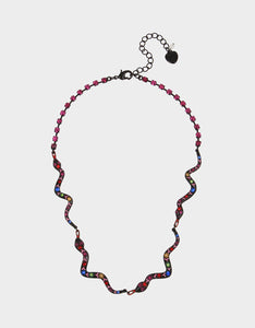 BETSEYVILLA SNAKE FRONTAL NECKLACE MULTI