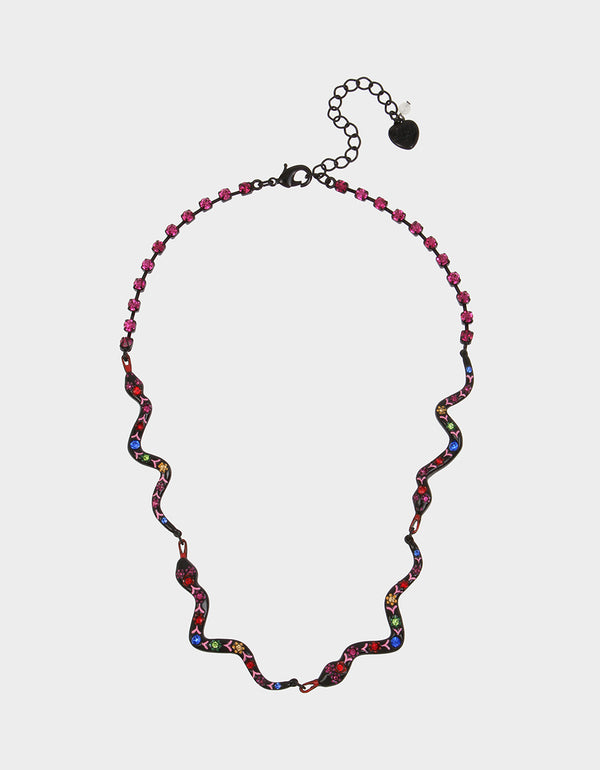 BETSEYVILLA SNAKE FRONTAL NECKLACE MULTI - JEWELRY - Betsey Johnson