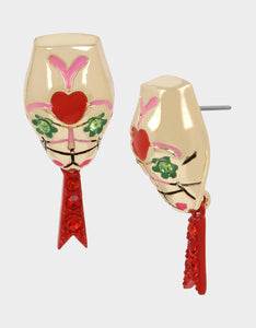 BETSEYVILLA SNAKE HEAD EARRINGS MULTI