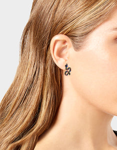 BETSEYVILLA SNAKE STUD EARRINGS MULTI
