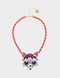 BETSEYVILLA SUGAR KITTY PENDANT PINK