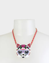 BETSEYVILLA SUGAR KITTY PENDANT PINK - JEWELRY - Betsey Johnson