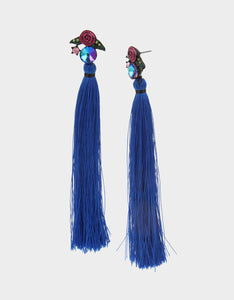 BETSEYVILLA TASSEL EARRINGS BLUE