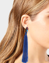 BETSEYVILLA TASSEL EARRINGS BLUE - JEWELRY - Betsey Johnson