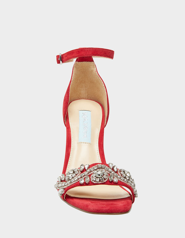SB-DANY RED SUEDE - SHOES - Betsey Johnson