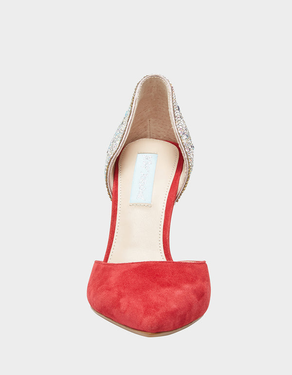 SB-YARA RED SUEDE - SHOES - Betsey Johnson