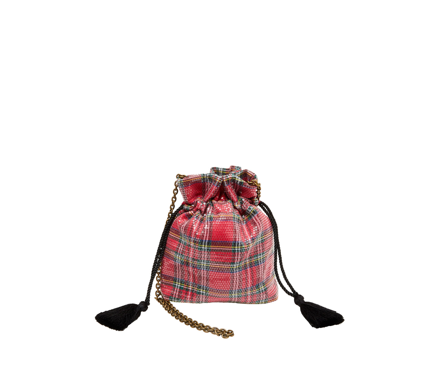BETSIFIED DRAWSTRING POUCH RED - HANDBAGS - Betsey Johnson