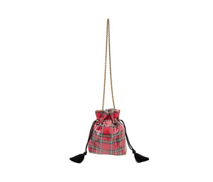 BETSIFIED DRAWSTRING POUCH RED