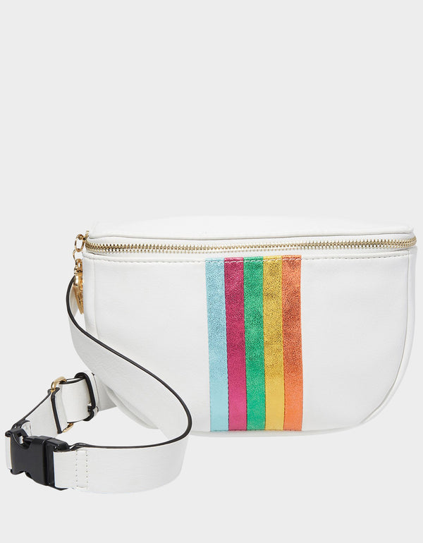BETWEEN THE LINES FANNY PACK WHITE