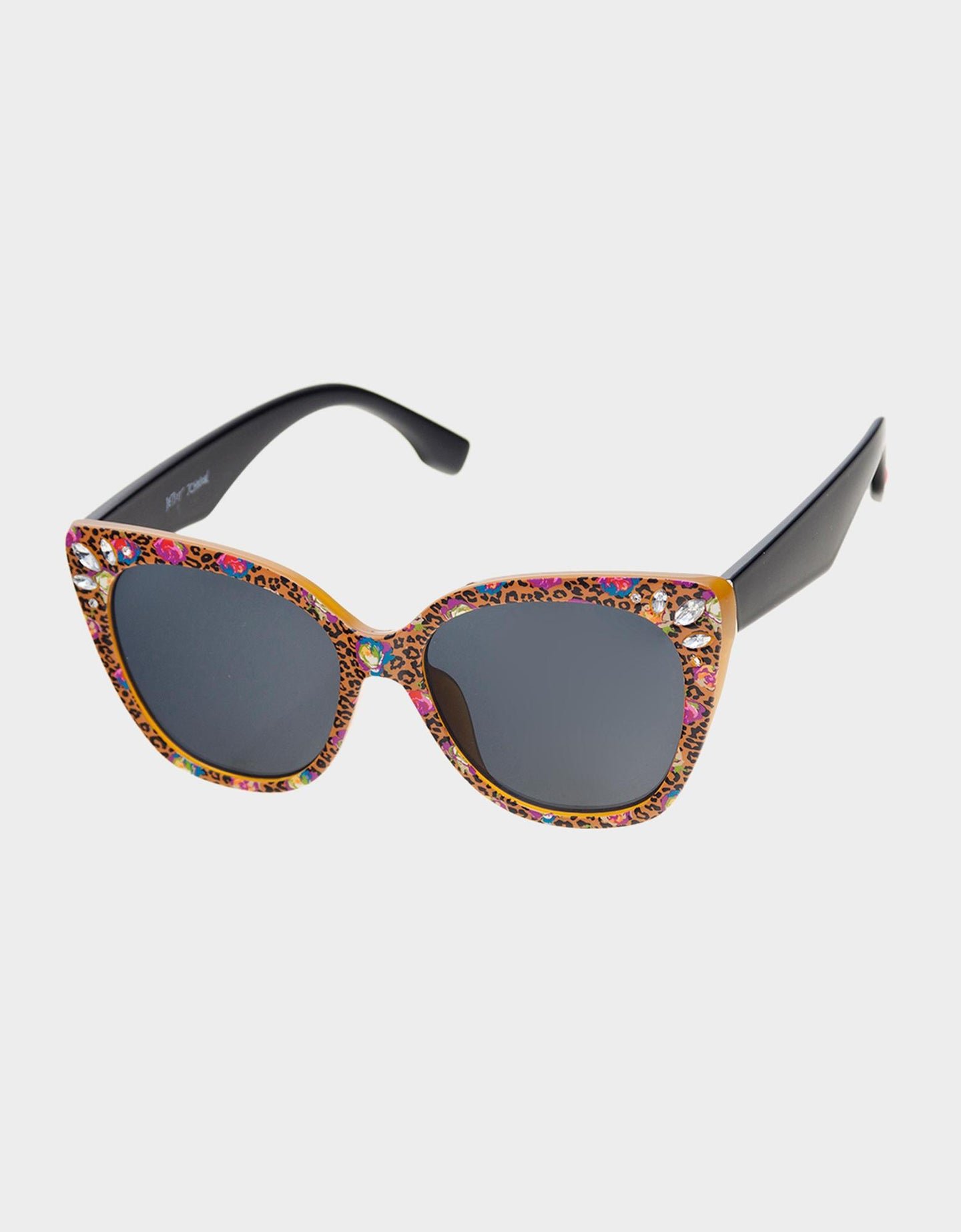 BIT OF BLING SUNGLASSES LEOPARD - ACCESSORIES - Betsey Johnson