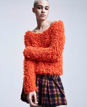 BJ VINTAGE SHAG TO IT SWEATER ORANGE - VINTAGE - Betsey Johnson