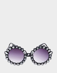 DREAMING OF DAISIES SUNGLASSES BLACK