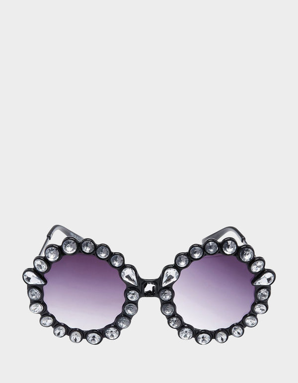 DREAMING OF DAISIES SUNGLASSES BLACK - ACCESSORIES - Betsey Johnson