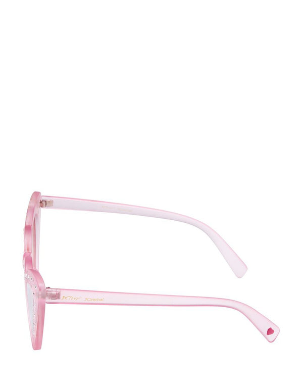 SO IN LOVE WITH HEARTS SUNGLASSES PINK - ACCESSORIES - Betsey Johnson