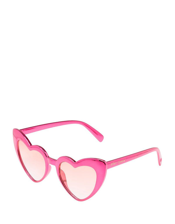 SWINGING HEARTS SUNGLASSES ROSE - ACCESSORIES - Betsey Johnson