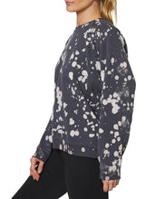 BLEACH SPLATTER OVERSIZED SWEATSHIRT BLACK - APPAREL - Betsey Johnson