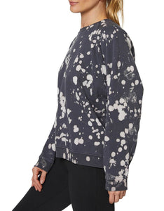 BLEACH SPLATTER OVERSIZED SWEATSHIRT BLACK