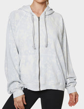 BLEACH TIE DYE OVERSIZED HOODIE SILVER - APPAREL - Betsey Johnson