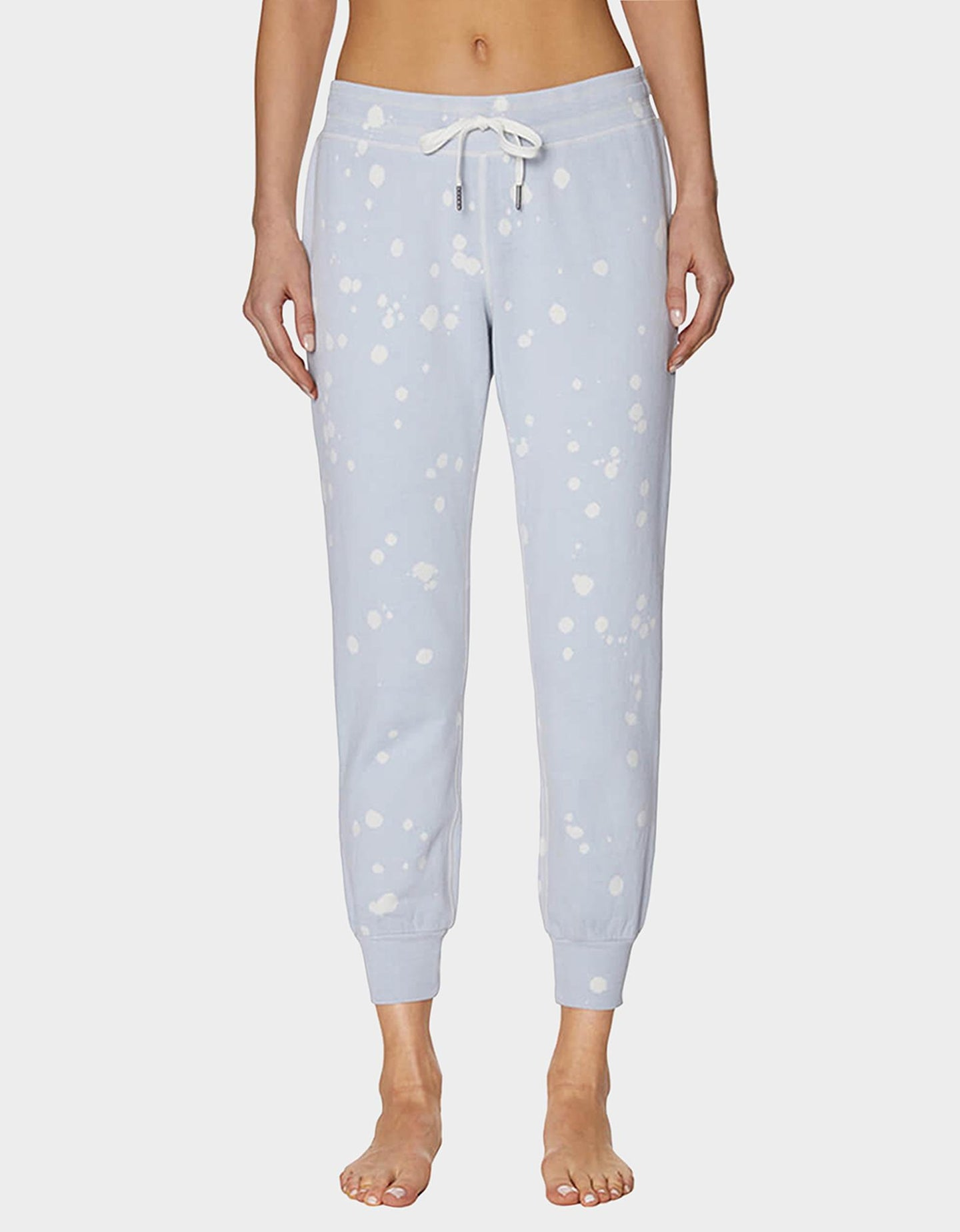 BLEACH TIE DYE SKINNY SWEATPANT SILVER - APPAREL - Betsey Johnson
