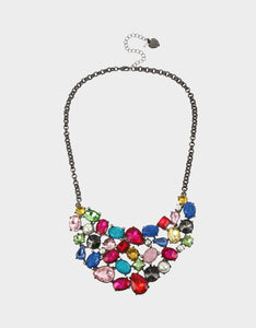BLING THING BIB NECKLACE RAINBOW MULTI