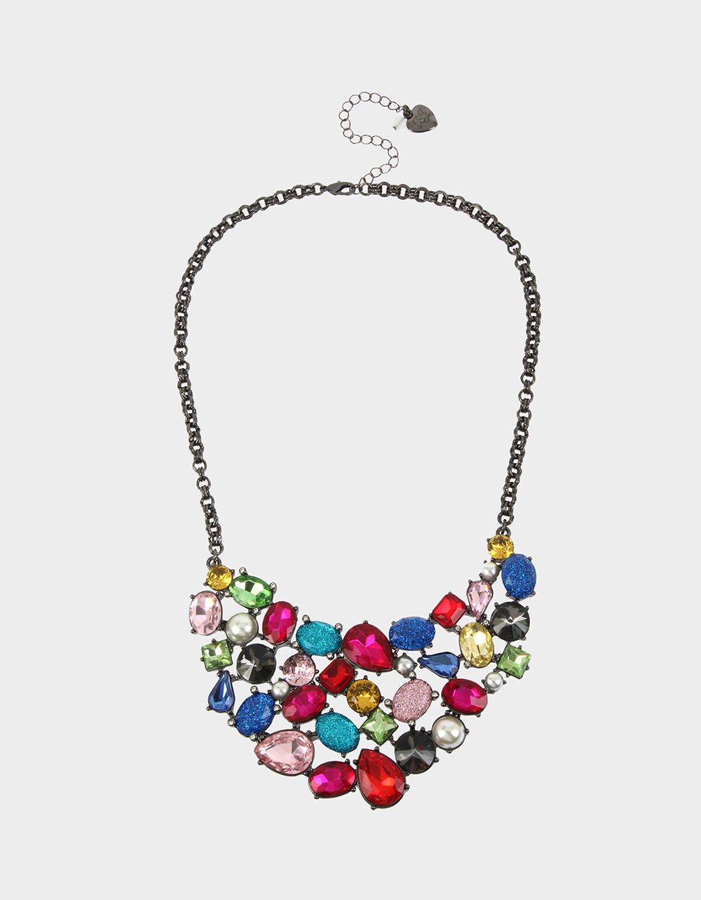 BLING THING BIB NECKLACE RAINBOW MULTI - JEWELRY - Betsey Johnson