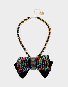 BLING THING BOW PENDANT RAINBOW MULTI