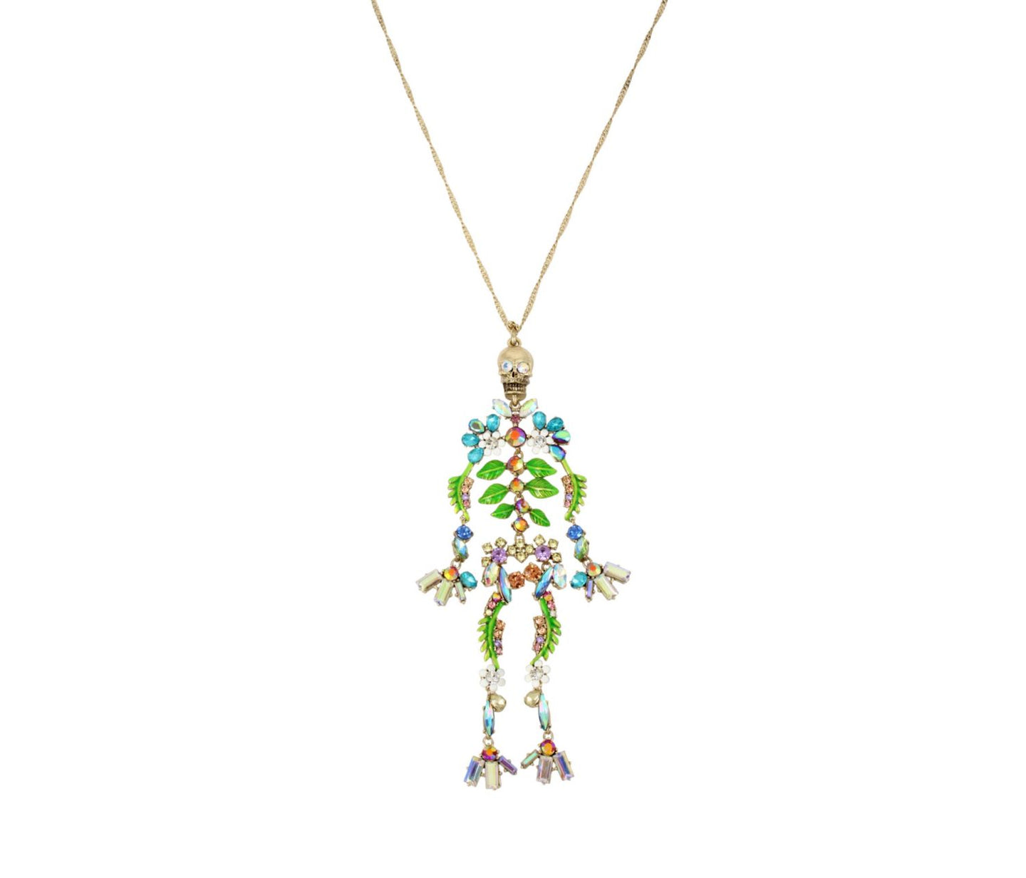 BLOOMING BETSEY SKELETON PENDANT MULTI - JEWELRY - Betsey Johnson