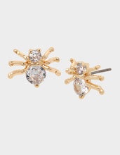 BOO CAPSULE CZ SPIDER STUDS CRYSTAL - JEWELRY - Betsey Johnson