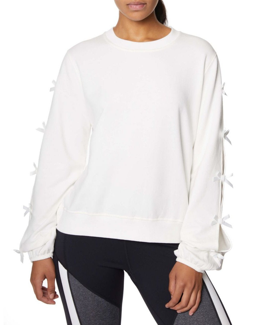 BOW ALL ABOUT IT SWEATSHIRT IVORY - APPAREL - Betsey Johnson