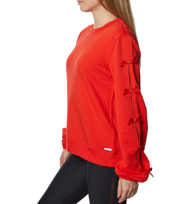 BOW ALL ABOUT IT SWEATSHIRT RED - APPAREL - Betsey Johnson